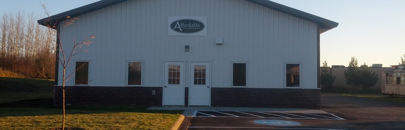 Cremation and funeral services based out of our facility at 4206 Airpark Blvd, Duluth Minnesota.